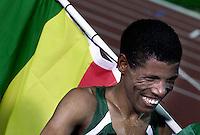 Atletiek 10km. De Ethiopier Haile Gebrselassie (foto) won de 10km.