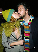 NEW YORK - FEBRUARY 23: Michelle and Wayne from the flaming lips appear at the 2003 Grammy Awards Warner Brothers Music Party at the Hudson Hotel February 23, 2003 in New York City.  (Photo by Matthew Peyton)