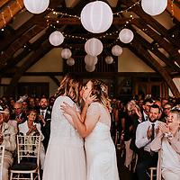 Cabin in the Woods ~ Kaity & Charlotte's Sandburn Hall, York Wedding