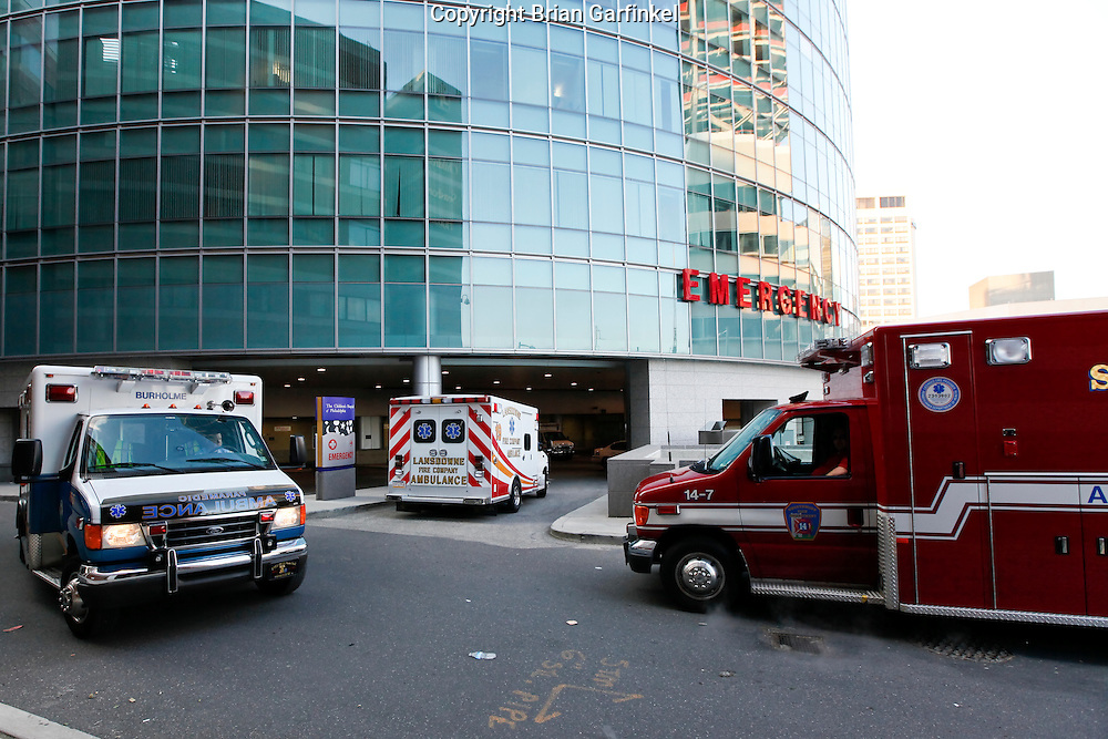 Philadelphia, Pennsylvania - An exterior view of the Emergency Room at the Childrens Hospital of Philadelphia.