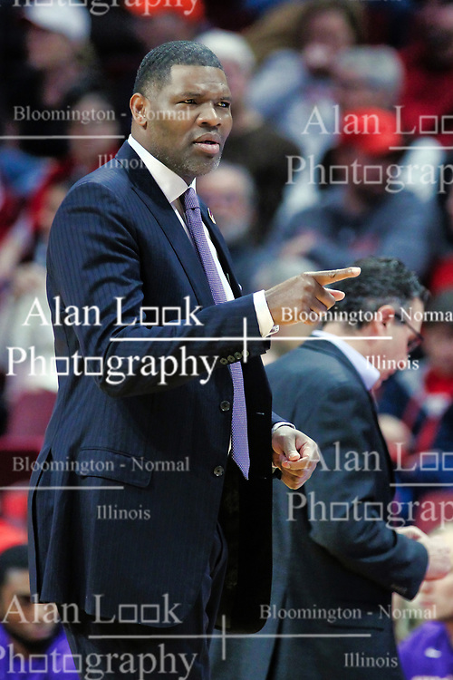 NORMAL, IL - January 05:  Walter McCarty during a college basketball game between the ISU Redbirds and the University of Evansville Purple Aces on January 05 2019 at Redbird Arena in Normal, IL. (Photo by Alan Look)