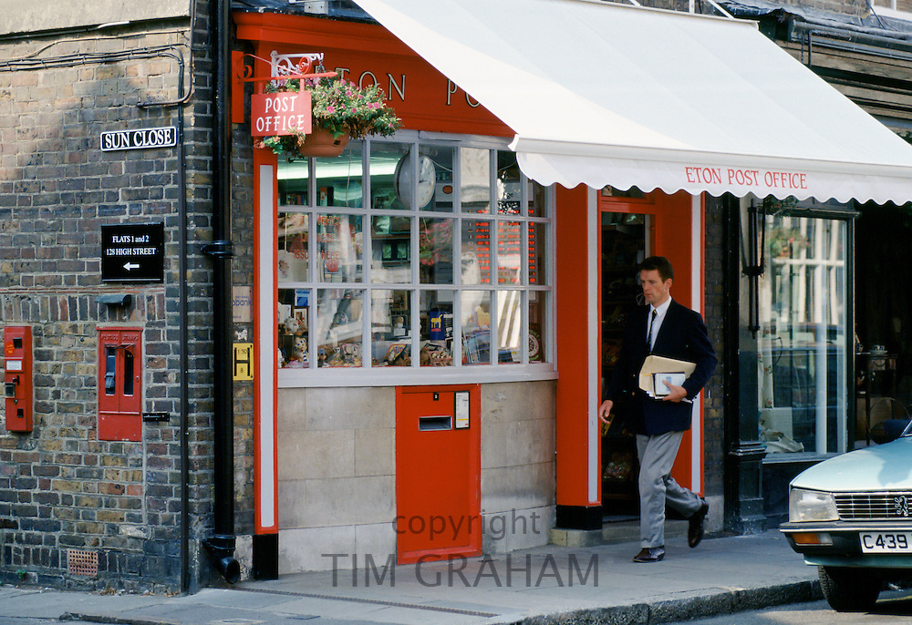 Eton Post Office in the town of Eton provides services for pupils at nearby Eton College public school, England, UK