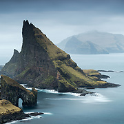 The long walk out from Sørvágur was worth the effort, these mighty structures of stone had been on my mind as a must, well befor arriving on the Faroes. I moved around the hills above to give me a composition that allowed me to diagonally line up Lítli Drangur, Stóri Drangur and Tindhólmur within a single frame.