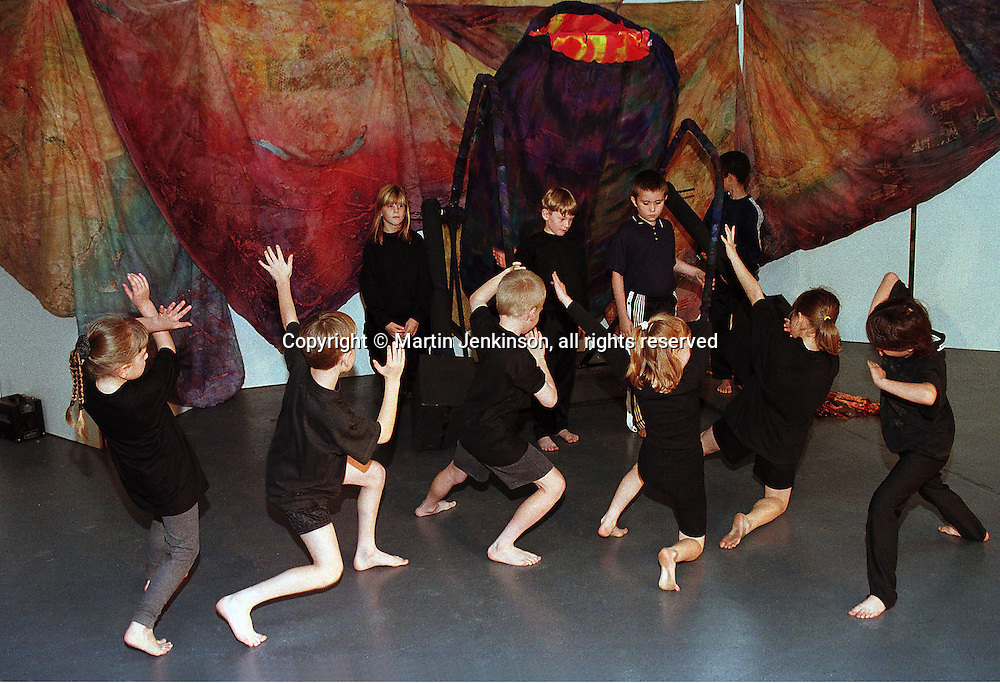 Primary (Junior) school pupils participate in a dance and drama project....