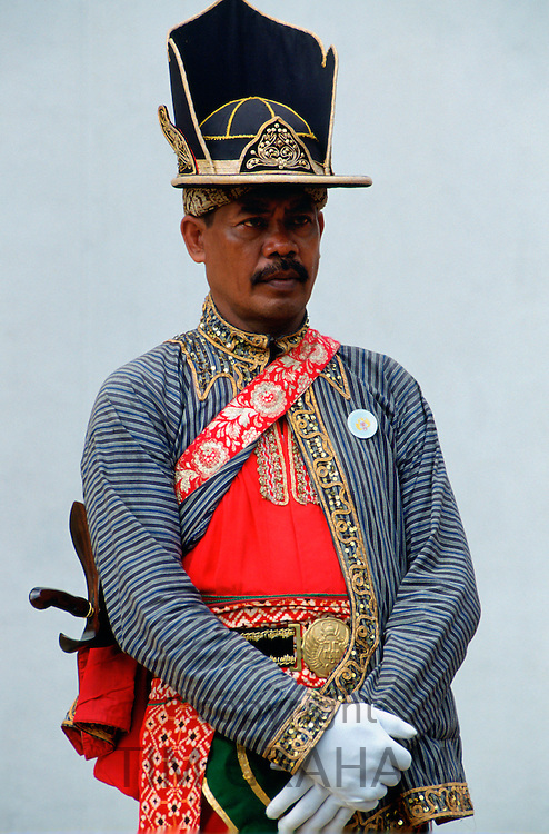 Ceremonial dress at Sultan's Palace, Yogya Karta, Indonesia