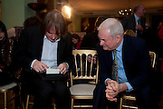 JULIAN LLOYD WEBBER; PAUL GAMBACCINI,  Founding Fellows 2010 Award Ceremony. Foundling Museum on Monday  8 March