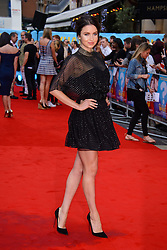 Image ©Licensed to i-Images Picture Agency. 12/08/2014. London, United Kingdom. <br /> Emma Milner attends the What If - UK film premiere. Leicester Square. Picture by Chris Joseph / i-Images