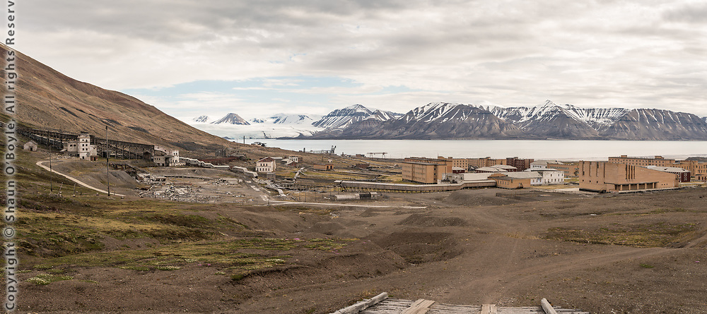 Abandoned coal mining settlement of Pyramiden, Island of Spitsbergen, Norway. I spent three days here photographing the city and surrounding landscapes.