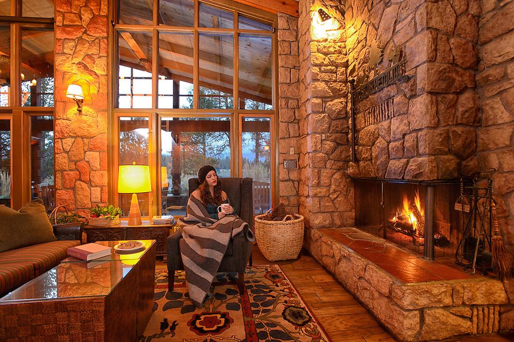 House of Metolius, Camp Sherman, Oregon, USA