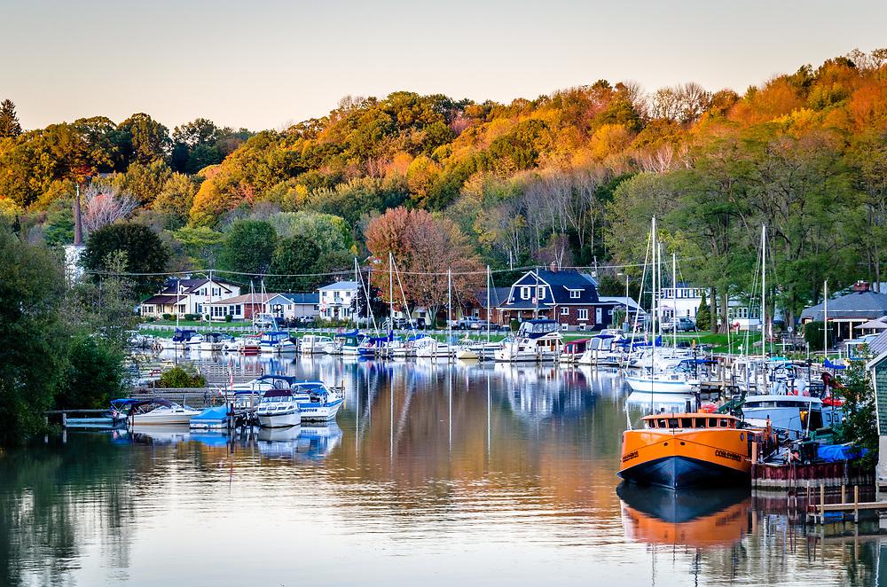 Autumn Sunset on Kettle Creek, Port Stanley, Ontario