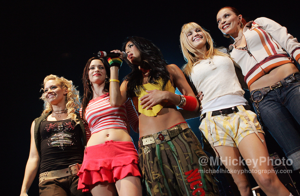 Pussycat Dolls perform at the Pepsi Coliseum during the RadioNow 93.1Santa Slam concert Dec 14, 2005 in Indianapolis, IN. Photo by Michael Hickey