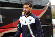 AFC Wimbledon midfielder Tom Soares (19) arriving during the EFL Sky Bet League 1 match between AFC Wimbledon and Northampton Town at the Cherry Red Records Stadium, Kingston, England on 10 February 2018. Picture by Matthew Redman.