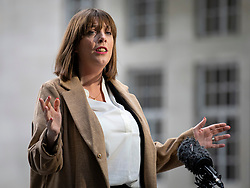 © Licensed to London News Pictures. 05/01/2020. London, UK. Labour Party MP and leadership contender Jess Phillips gives an interview outside BBC Broadcasting House.  Photo credit: Rob Pinney/LNP