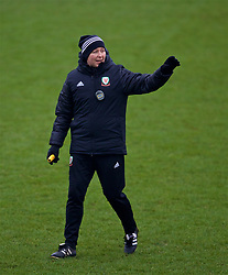 CARDIFF, WALES - Sunday, January 20, 2019: Wales' manager Jayne Ludlow during a training session at Dragon Park ahead of the International Friendly game against Italy. (Pic by David Rawcliffe/Propaganda)