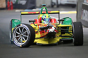ABT Schaeffler Audi Sport driver, Lucas Di Grassi with a crash on the first lap during round 10, Formula E, Battersea Park, London, United Kingdom on 3 July 2016. Photo by Matthew Redman.