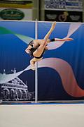 Greta Evangelisti from Pontevecchio team during the Italian Rhythmic Gymnastics Championship in Padova, 25 November 2017.