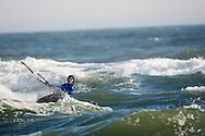 Kite Surfers enjoy unusually warm weather at Gilgo Beach New York , Saturday, January 06, 2006