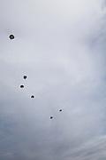 Ecuador, May 5 2010: Parachuters at Shell. Copyright 2010 Peter Horrell