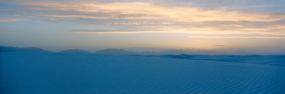 Dusk at White Sands National Park, Alomogordo, New Mexico