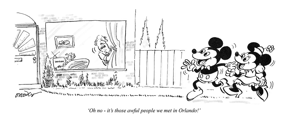 'Oh no - it's those awful people we met in Orlando!'