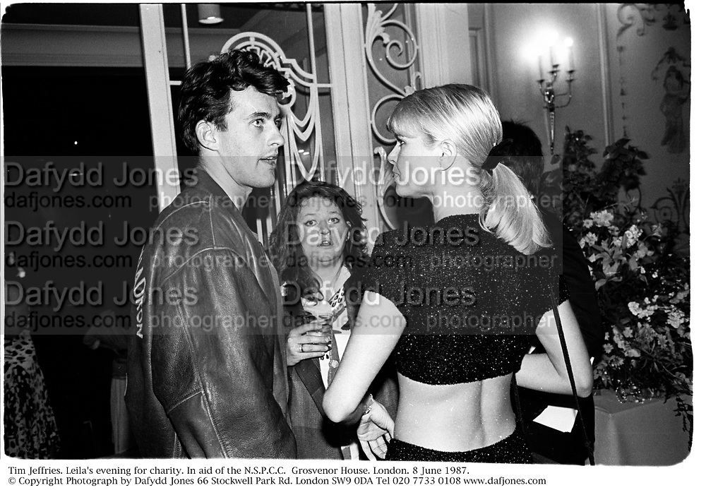 Tim Jeffries. Leila's evening for charity. In aid of the N.S.P.C.C.  Grosvenor House. London. 8 June 1987. © Copyright Photograph by Dafydd Jones 66 Stockwell Park Rd. London SW9 0DA Tel 020 7733 0108 www.dafjones.com