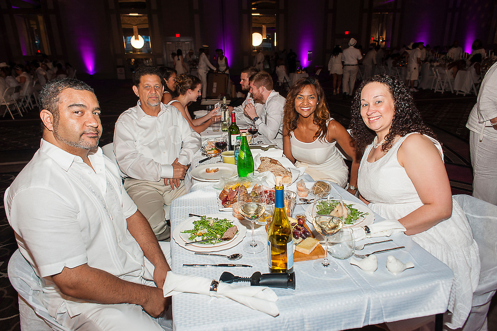 DINER EN BLANC NEW ORLEANS 2014: Diner En Blanc in New Orleans celebrates their 2nd year at the pop-up dinner at Hyatt Regency on Saturday, May 10, 2014.