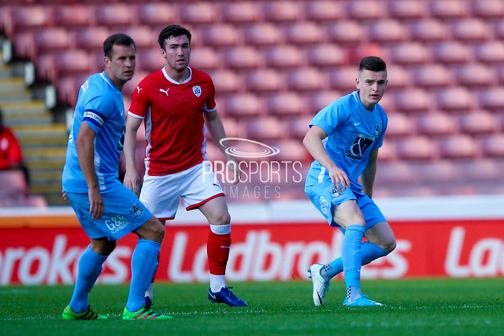 Coventry City defender Darragh Leahy (3) plays the ball forward during the Pre-Season Friendly match between Barnsley and Coventry City at Oakwell, Barnsley, England on 18 July 2017. Photo by Simon Davies.
