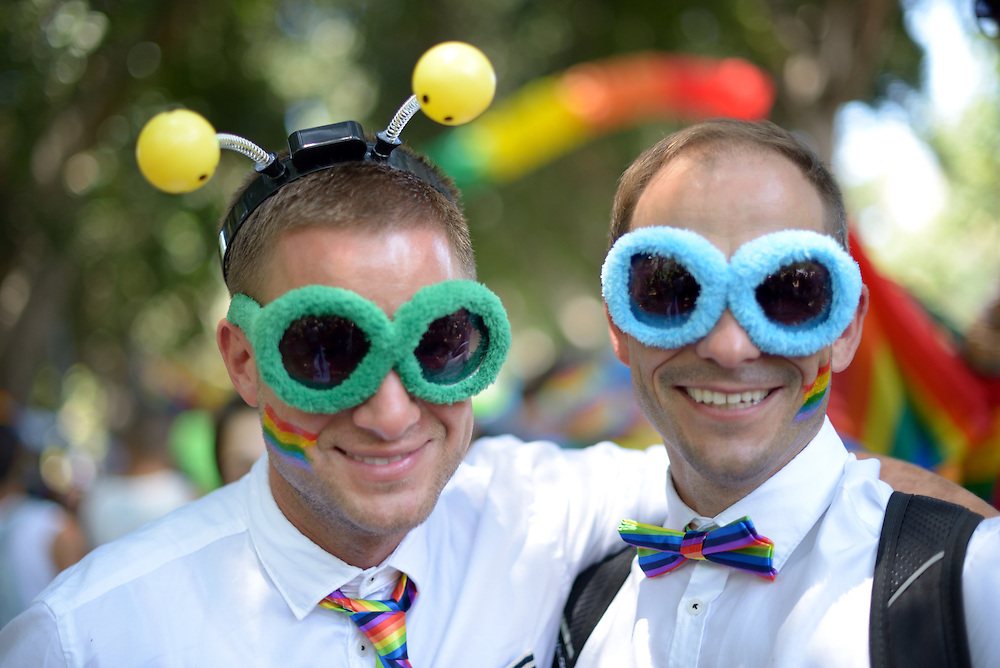 Tel Aviv, Israel - June 13, 2014: Czech Members of the gay comminuty take part in the Annual Gay Pride Parade in Tel Aviv on June 13, 2014. More than 100,000 people took part in the Annual Gay Pride Parade in Tel Aviv. Photo by Gili Yaari