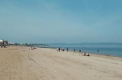 Edinburgh was covered in glorious sunshine today as the temperature was predicted to hit 23 degrees<br /> <br /> Pictured: Portobello Beach<br /> <br /> Alex Todd   Edinburgh Elite media
