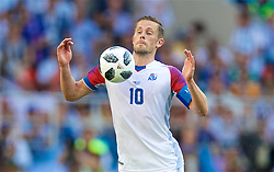 MOSCOW, RUSSIA - Saturday, June 16, 2018: Iceland's Gylfi Sigurdsson during the FIFA World Cup Russia 2018 Group D match between Argentina and Iceland at the Spartak Stadium. (Pic by David Rawcliffe/Propaganda)