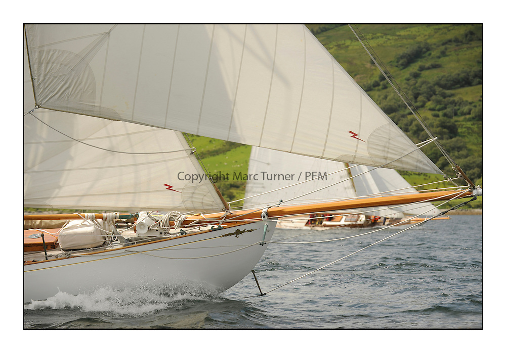 Day three of the Fife Regatta, Cruise up the Kyles of Bute to Tighnabruaich<br /> Viola, Yvon Rautureau, FRA, Gaff Cutter, Wm Fife 3rd, 1908<br /> <br /> * The William Fife designed Yachts return to the birthplace of these historic yachts, the Scotland&rsquo;s pre-eminent yacht designer and builder for the 4th Fife Regatta on the Clyde 28th June&ndash;5th July 2013<br /> <br /> More information is available on the website: www.fiferegatta.com