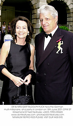 DR & MRS GERT RUDOLPH FLICK he is the German multi-millionaire, at a party in London on 18th June 2001.	OPM 57