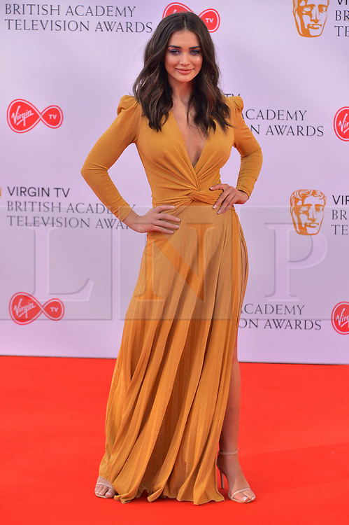 © Licensed to London News Pictures. 13/05/2018. London, UK. AMY JACKSON arrives for the Virgin TV British Academy (BAFTA) Television Awards. Photo credit: Ray Tang/LNP