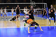 Princeton Tigers libero Corry Short (24) dives for the ball against the Pepperdine Waves during an NCAA Championships opening round match, Wednesday, April 30, 2019, in Long Beach, Calif. Pepperdine defeated Princeton 25-23, 19-25, 25-16, 22-25, 15-8.