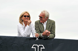 JOHN RENDALL and CASS McCLANCY at a charity polo match organised by Jaeger Le Coultre was held at Ham Polo Club, Richmond, Surrey on 12th June 2009.