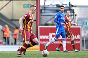 Bradford City forward Shay McCartab (14) on the ball  during the EFL Sky Bet League 1 match between Bradford City and Gillingham at the Northern Commercials Stadium, Bradford, England on 24 March 2018. Picture by Mick Atkins.