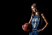Fremont High's Shelbee Molen poses for a portrait in the school gym on Wednesday, March 19, 2014.