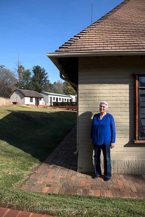 Celeste De Lang, 69, from Durban now living in Springs, pictured at Liliesleaf Farm, in the Rivonia suburb of Johannesburg, South Africa. Liliesleaf Farm was a hideout used by the ANC, including Nelson Mandela, during the early 1960's. 19 ANC leaders were arrested here in 1963.