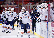 February 23, 2011: The Oklahoma City Barons play the Milwaukee Admirals in an American Hockey League game at the Cox Convention Center in Oklahoma City.