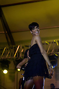 Pop star Rihanna performs at the 3rd annual THISDAY music and fashion festival July 11, 2008  in Abuja, Nigeria. The annual festival is designed to raise awareness of African issues while promoting positive images of Africa using music, fashion and culture in a series of concerts and events in Nigeria, the United States and the United Kingdom. .