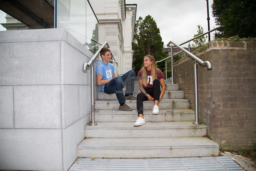 06.09. 2017.                             <br /> #Study at UL<br /> Students promoting The University of Limericks #Study at UL campaign. <br /> Pictured are, Yuri Kanash, Aeronautical Engineering and  Laura Cotter, English and New Media. Picture: Alan Place