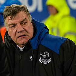 Sam Allardyce manager of Everton during the Premier League match between Everton and Manchester United, Goodison Park, Monday 1st January 2018<br /> (c) John Baguley | SportPix.org.uk