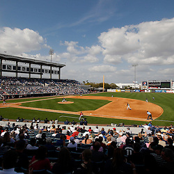 March 2, 2011; Tampa, FL, USA; A general view during a spring training exhibition game between the Houston Astros and the New York Yankees at George M. Steinbrenner Field. Mandatory Credit: Derick E. Hingle-US PRESSWIRE