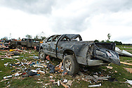 June 06, 2010:  A Dodge truck sits in the destruction of the home owned by Tim and Debbie Miller after a tornado hits Ottawa County, OhioTornado destruction in Ottawa County, Ohio