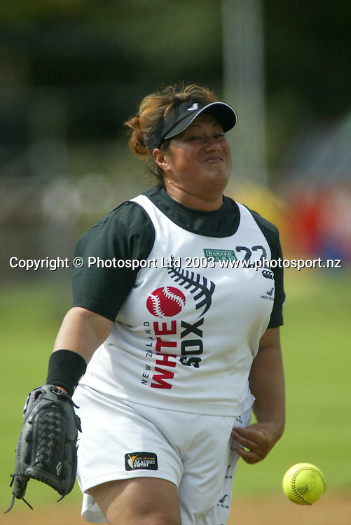 16 March 2003, Women's International Softball series, Bartercard White Sox vs World All Stars, Rosedale Park, Albany, Auckland, New Zealand.<br />