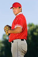 Baseball Pitcher Preparing For Pitch