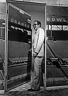 Miami Mayor Steve Clark at the Orange Bowl in Miami, circa 1970s.