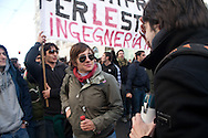 Manifestazioni studentesche nel giorno del voto di fiducia al governo Berlusconi. Roma, 14 dicembre 2010.