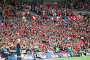 Swiss fans  during the UEFA European 2016 Qualifying match between England and Switzerland at Wembley Stadium, London, England on 8 September 2015. Photo by Shane Healey.