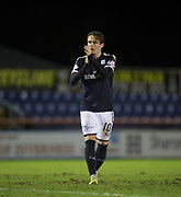 30th January 2018, Tulloch Caledonian Stadium, Inverness, Scotland; Scottish Cup 4th round replay, Inverness Caledonian Thistle versus Dundee; Goalscorer Dundee's Scott Allan at the end